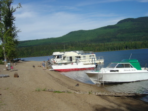 Cariboo Island a great camping & swimming area for boaters.